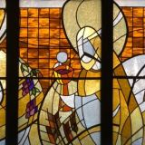 Stain-glass window Eucharist